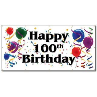 Happy 100th Birthday   3' x 6' Vinyl Banner  Banner And Sign Cloth