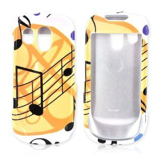Musical Note Design on White Samsung R860 Plastic Case Cover [Anti Slip] Supports Premium High Definition Anti Scratch Screen Protector; Durable Fashion Snap on Hard Case; Coolest Ultra Slim Case Cover for R860 Supports Samsung Devices From Verizon, AT&