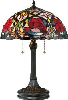 Quoizel TF879T Larissa 2 Light Tiffany Table Lamp