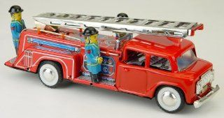 Tin Fire Truck with sound   Reproduction Toys & Games