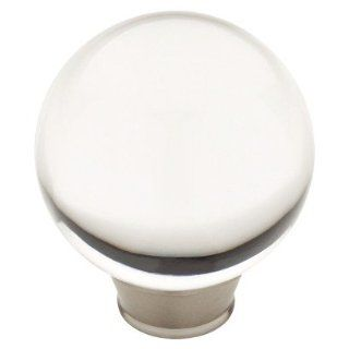 Target Home 4 Pack Acrylic Kitchen Cabinet Knob   Satin Nickel/Clear