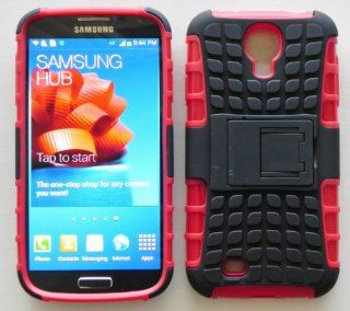 Dual Layer Protection Cover with Kickstand for Samsung Galaxy S4 Black/red Cell Phones & Accessories
