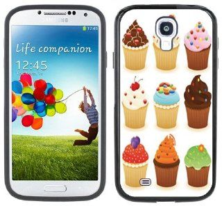 Cupcakes Handmade Samsung Galaxy S4 Black Bumper Hard Plastic Case Cell Phones & Accessories
