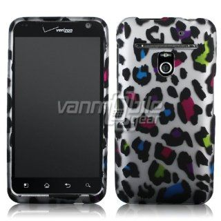 VMG For LG Revolution VS910 Cell Phone Graphic Image Design Faceplate Hard Case Cover   Colorful Rainbow Leopard Animal Print Cell Phones & Accessories