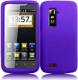 For ZTE Anthem 4G N910 Silicone Jelly Skin Cover Case Dark Purple Cell Phones & Accessories
