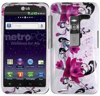 Purple Lily Hard Case Cover for LG Esteem MS910 Revolution VS910 Cell Phones & Accessories