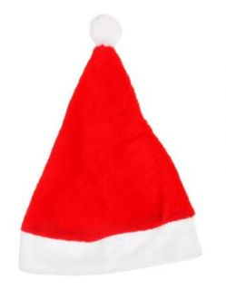 Plush Red Santa Hat Christmas Holiday Celebration Accessory Cap, 4x Pack Lot Cap Santa Claus Clothing