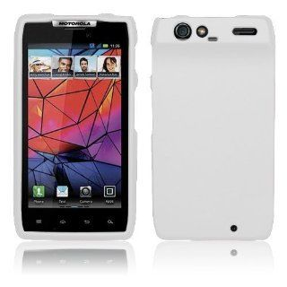 Motorola Droid RAZR 4G XT912   White Hard Plastic Case Cover [AccessoryOne Brand] Cell Phones & Accessories