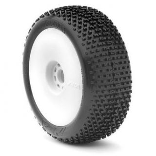 AKA Products 14001MRW Racing Buggy I Beam Medium Evo Wheel Pre Mounted White Tire, Scale 18 Toys & Games