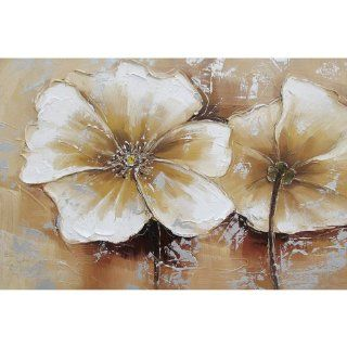 Yosemite Home Decor FCC4812 2YM Full Bloom III Still Life Hand Painted Artwork   Oil Paintings