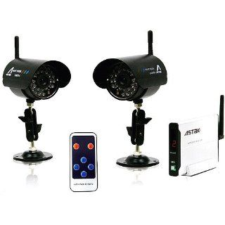 Astak CM 918T2 900 Mhz 2 Security Camera Set, CMOS, Night Vision, Indoor/Outdoor, Wireless, Receiver and Remote Control  Complete Surveillance Systems  Camera & Photo