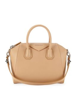 Antigona Sugar Satchel Bag, Light Beige   Givenchy