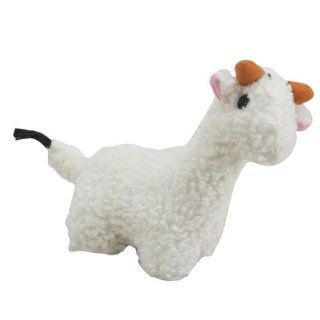 Zanies Soft Plush Fleecy Friend 7 1/2 Inch Dog Toy, Liama  Pet Squeak Toys
