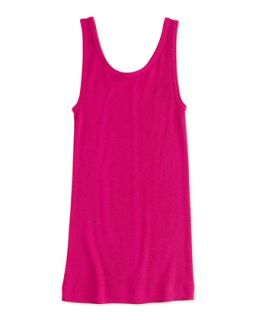 Girls Favorite Ribbed Tank Top, Fuchsia, 4 6X   Vince