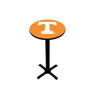 "University of Tennessee Pub Table   Black Pedestal   42"" H   Sports Fan Tables"