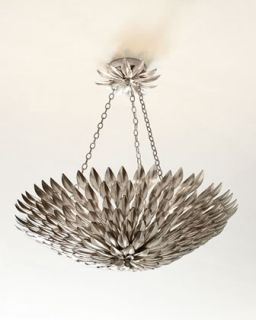 Broche Layered Leaves Six Light Convertible Chandelier