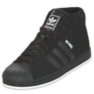 ADIDAS Men's Pro Model Basketball Shoe, Black/White Shoes