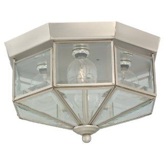 Sea Gull Lighting 7662 962 4 Light Hall and Foyer Ceiling Fixture, Clear Beveled Glass Panels and Brushed Nickel   Close To Ceiling Light Fixtures