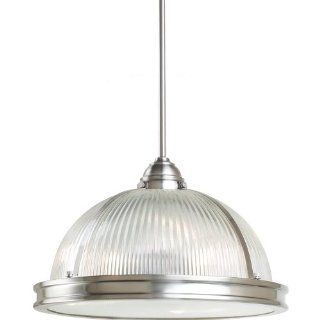 Sea Gull 65062 962 Lighting Pratt Street Prismatic 3 Light Pendant, Brushed Nickel, 1 Pack   Ceiling Pendant Fixtures