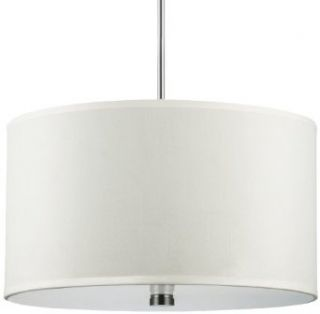 Sea Gull Lighting 65263 962 Pendant with Faux Silk Shade Shades, Brushed Nickel Finish   Ceiling Pendant Fixtures
