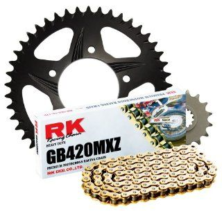 RK Racing Chain 2002 988ZK Black Aluminum Rear Sprocket and GB420MXZ Chain Race Kit Automotive