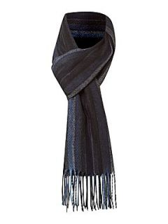 Linea Soft touch multi stripe scarf Blue