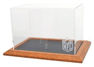 NFL Logo Gear Natural Color Framed Base Football Display  Sports Related Collectible Footballs  Sports & Outdoors