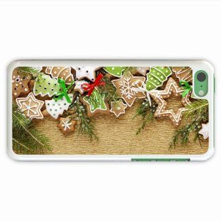 Make Iphone 5C Holidays Cookies Refreshments Needles New Year Christmas Trees Snowflakes Stars Of Hard White Case Cover For Everyone Cell Phones & Accessories