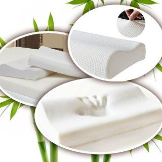 Memory Foam Pillow   Firm w/ an Ultra Soft Cover, Luxury Style, Designed to Help You Sleep Better. Ergonomically Contoured for Proper Neck Support Side & Back Sleepers. 40% Bamboo Fiber Cover  Naturally Ventilated for a Cooler Slumber. Standard Size