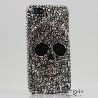 3D Swarovski Crystal Bling Case Cover for iphone 5 5G AT&T Verizo & Sprint Skull Design (Handcrafted by BlingAngels) Cell Phones & Accessories