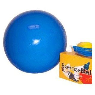 Sunfitness 65cm Exercise Ball w/ Dual Action Pump  Sports & Outdoors