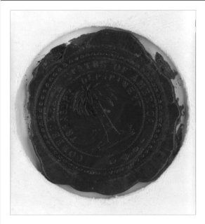 Historic Print (M) [Red wax seal impression of Treasury Department, Confederate States of America]