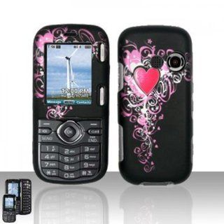 LG Cosmos VN250 / Rumor 2 LX265 Case Vintage Heart Design Hard Cover Protector (Verizon / Sprint) with Free Car Charger + Gift Box By Tech Accessories Cell Phones & Accessories