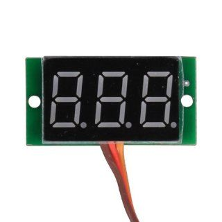 "KEEDOX� Mini Red 0.36 "" LED Digital Volt Voltage Panel Meter Voltmeter 0 99V, Three wires Electronics"