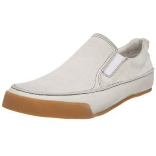 Kenneth Cole Reaction Men's Theme Park Slip On, White, 6.5 M US Shoes