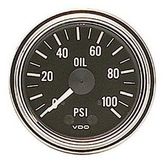 "VDO 150330 Series 1 Style Mechanical Oil Pressure Gauge 2 1/16"" Diameter, 100 PSI Automotive"