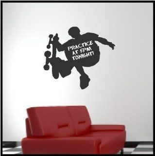 Chalkboard Vinyl Skateboard Boy Wall Decal Sticker Removable and Repositionable Wall Art   Wall Decor Stickers