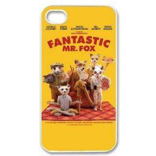 Unique Design Cartoon Series iPhone 4/4S Case Fantastic Mr. Fox Cover iPhone 4 4S Plastic Protective Case Cell Phones & Accessories