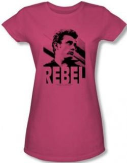 James Dean Juniors T shirt Rebel Rebel Hot Pink Tee Shirt Clothing