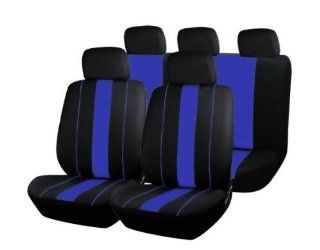 Black + Blue Car Seat Covers 9 Piece FREE Steering Wheel Belt Pad Head Rests Ship from USA  Child Safety Car Seat Accessories  Baby