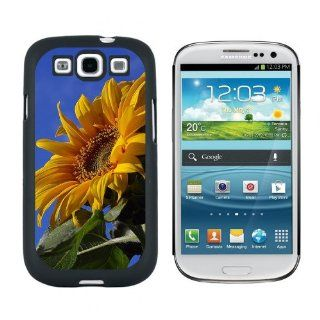 Sunflower Against Blue Sky   Snap On Hard Protective Case for Samsung Galaxy S3   Black Cell Phones & Accessories