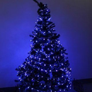 EiioX Blue 230V 30M 300 LED Fairy String Lights with 8 Controlable Functions for XMAS Christmas Tree Wedding Outdoor Party  Tree Plants  Patio, Lawn & Garden
