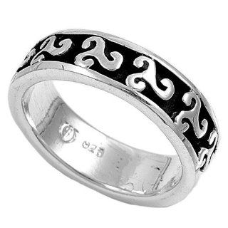 Sterling Silver Woman's Men's Celtic Ring Classic Comfort Fit Wedding Band 6mm Size 9 Jewelry