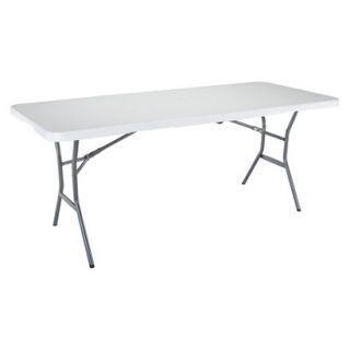 Folding Table Lifetime 6 Folding Table   White Granite