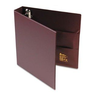 "Avery Consumer Products Products   3 Ring EZD Binder, 1 1/2""Capacity, 8 1/2""x11"", Maroon   Sold as 1 EA   Heavy duty binder features One Touch EZD rings that open with ease and keep pages secure. Gap Free ring feature prevents gapping and mi"