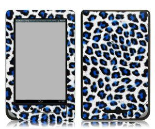 Bundle Monster Barnes & Noble Nook Color Nook Tablet eBook Vinyl Skin Cover Art Decal Sticker Accessories   Blue Lepard   Fits both Nook Color and Nook Tablet (Released Nov. 7, 2011) Devices  Players & Accessories