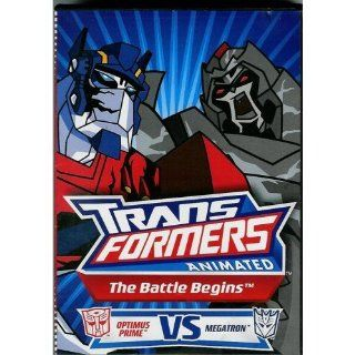 Transformers Animated ~ The Battle Begins Optimus Prime VS Megatron DVD OPTIMUS PRIME, MEGATRON, BUMBLE BEE AND THE OTHER TRANSFORMERS Movies & TV
