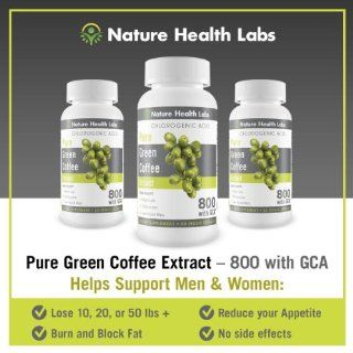 "Pure Green Coffee Bean Extract   One Day Sale    800 GCA   ADD 3 GET 1 FREE   As seen on Dr. Oz TV Show   ""Doubles Your Weight Loss Naturally""   Highest Potency Available 50% Chlorogenic Acid   800 mg per capsule   NO Side Effects   All Na"