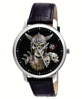 Scary Viking Skull Art Gents Collectible Wrist Watch Watches