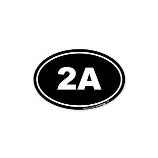 "2A Second Ammendment Pro Gun oval car bumper sticker 5"" x 3"" Automotive"